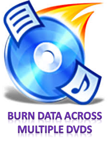 burn data across multiple dvds