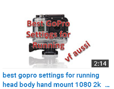 best gopro settings for running